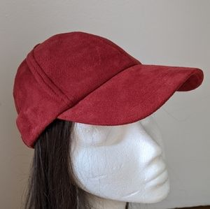Cool Faux Suede Free People Baseball Cap